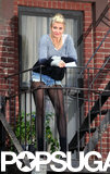 Cameron Diaz stepped into the shoes of Miss Hannigan on the NYC set of Annie on Tuesday.
