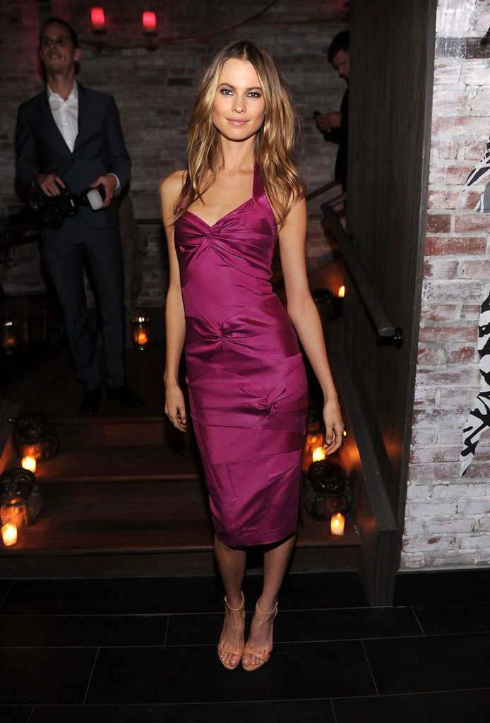Behati Prinsloo proved that jewel tones are always a good idea.