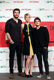 Jennifer Lawrence posed with her leading men at the Rome Film Festival.