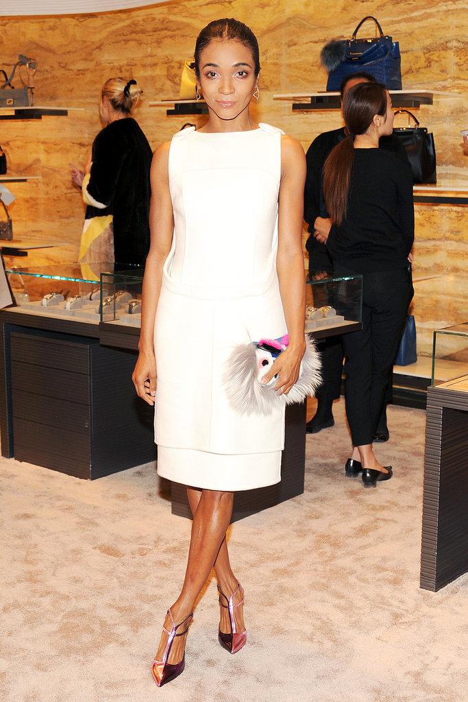 Genevieve Jones in Fendi at Vogue's Fendi Buggies launch.