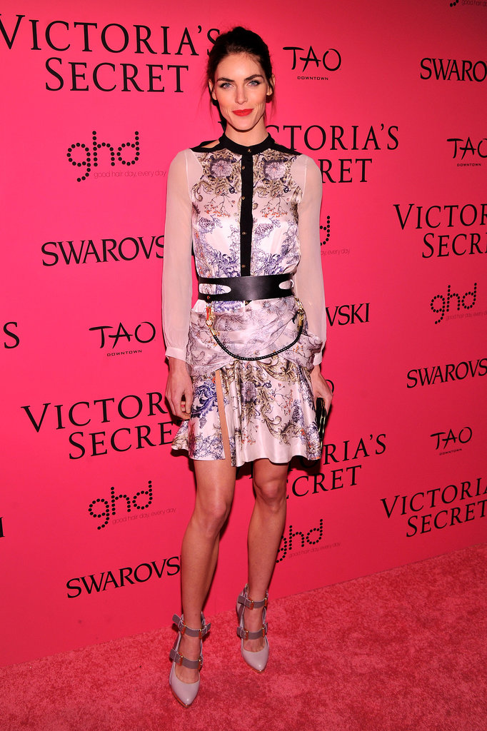 Hilary Rhoda in Prabal Gurung at the Victoria's Secret Fashion Show.