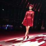 Valentino went aptly bold and red for its Shanghai runway show. Source: Instagram user maisonvalentino