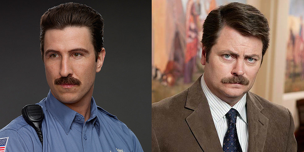 Movember! TV Men With Mustaches and Without