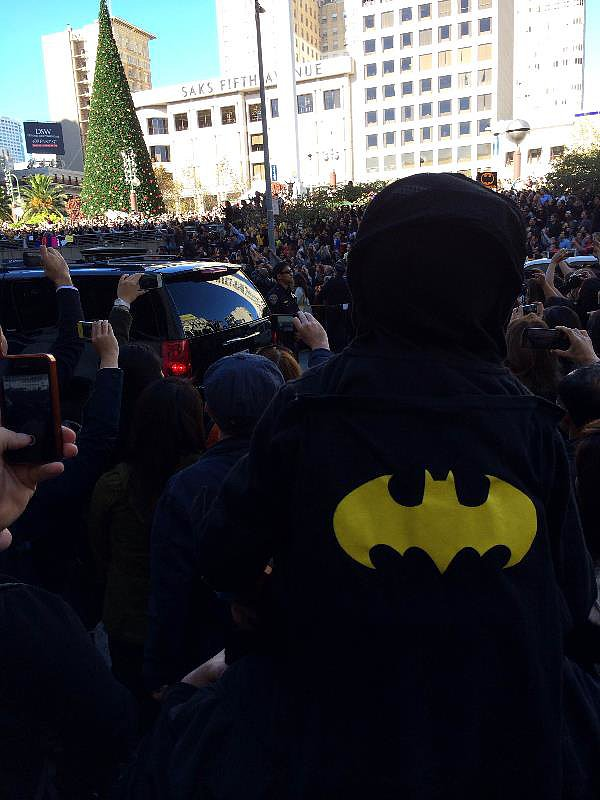 BatKid's supporters came in all shapes and sizes.