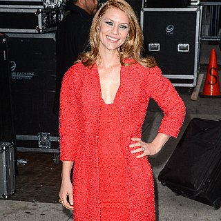 Claire Danes in Red Outfit at The Late Show