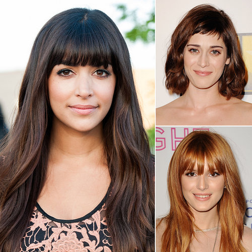 Celebrity Fringe Hairstyles For Autumn 2013