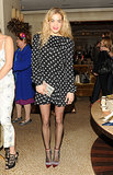 Chelsea Leyland at Bergdorf Goodman's Jimmy Choo event.