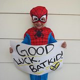 Spider-Man's his biggest fan! Source: Facebook user Batkid Photo Project