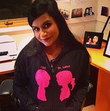 Mindy Kaling's sweatshirt was clearly made for her! Source: Instagram user mindykaling