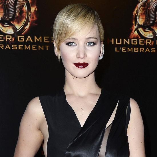 Jennifer Lawrence Black Dress; Catching Fire Premiere, Paris