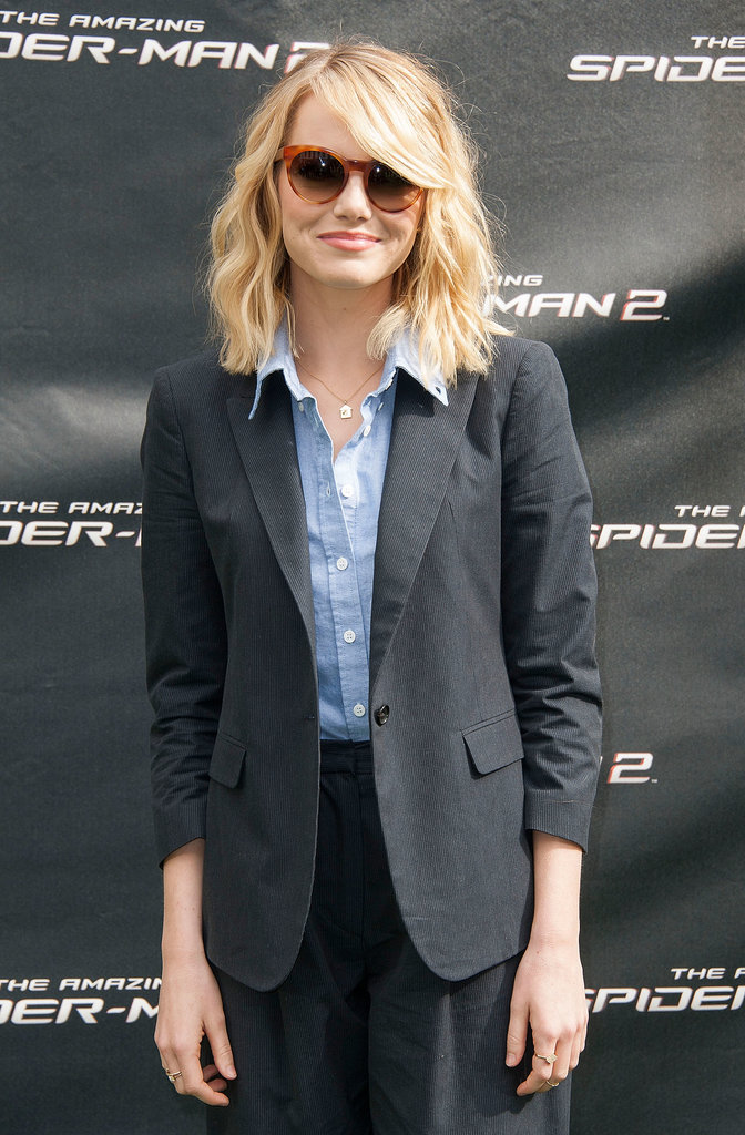 Emma Stone gave a sweet smile while posing for pictures at the event.