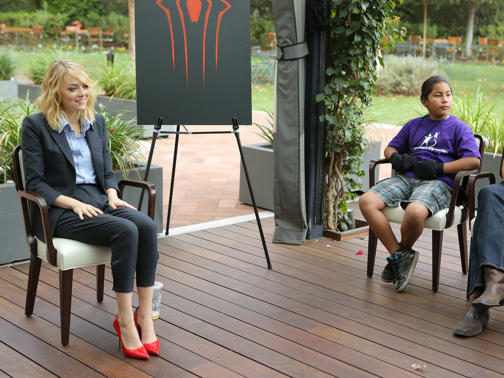 Emma Stone spoke with fans during the LA event.