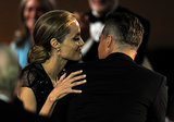 Angelina Jolie shared some sweet PDA with Brad Pitt at the event.
