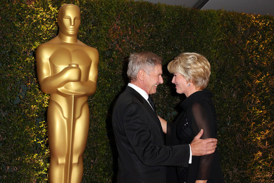 Harrison Ford and Emma Thompson shared a sweet moment on the red carpet.