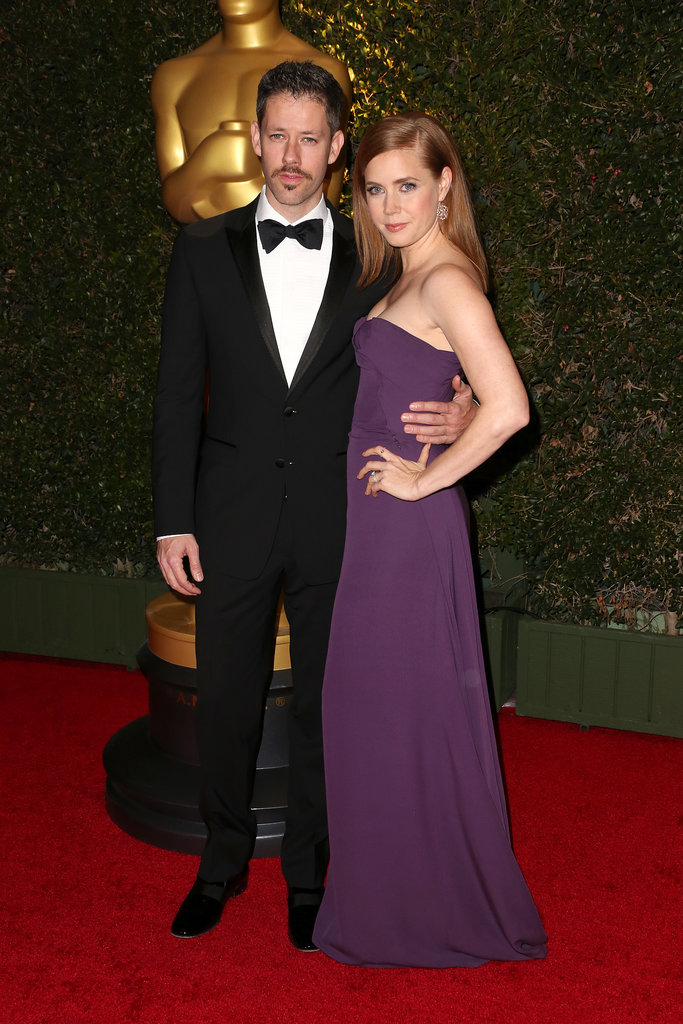 Amy Adams and Darren Le Gallo posed for pictures at the Governors Awards.