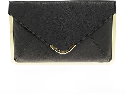 ASOS Metal Frame Envelope Clutch Bag