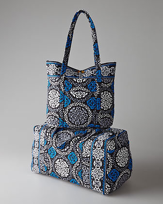 Vera Bradley Canterberry Cobalt Get Carried Away Tote