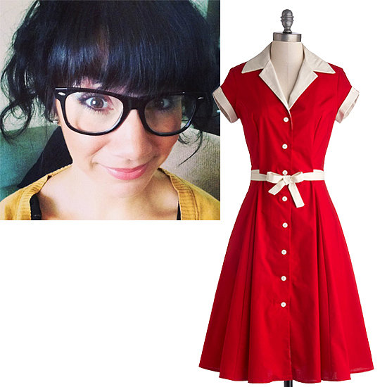 "@tholmz Comedy Hour Dress in Solid Red ($120) ""Because this dress looks like something Lucille Ball would wear, and she is obviously my comedy idol."""