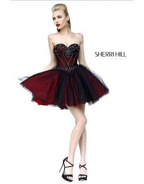 Sherri Hill 21156 Homecoming Dresses Red
