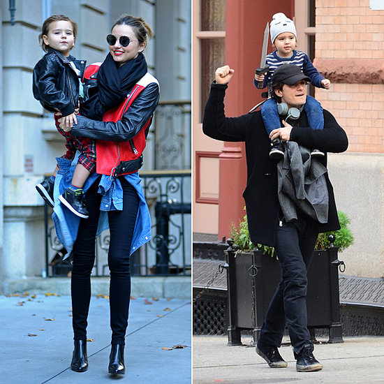 Miranda Kerr and Little Flynn Model Matching Leather