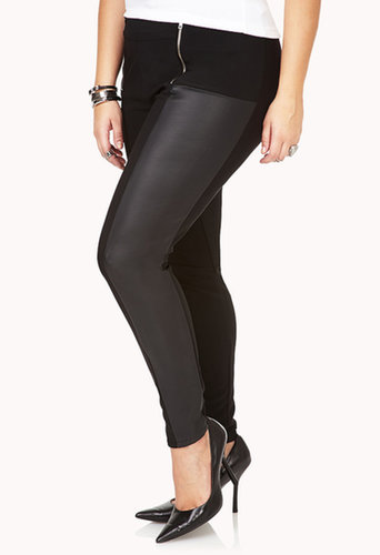 FOREVER 21+ On The Edge Faux Leather Leggings