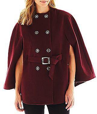 Collezione Faux-Wool Cape Coat