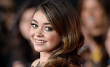 Sarah Hyland showed off her beautiful smile.