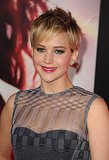 Jennifer Lawrence was all smiles at LA's Catching Fire premire.