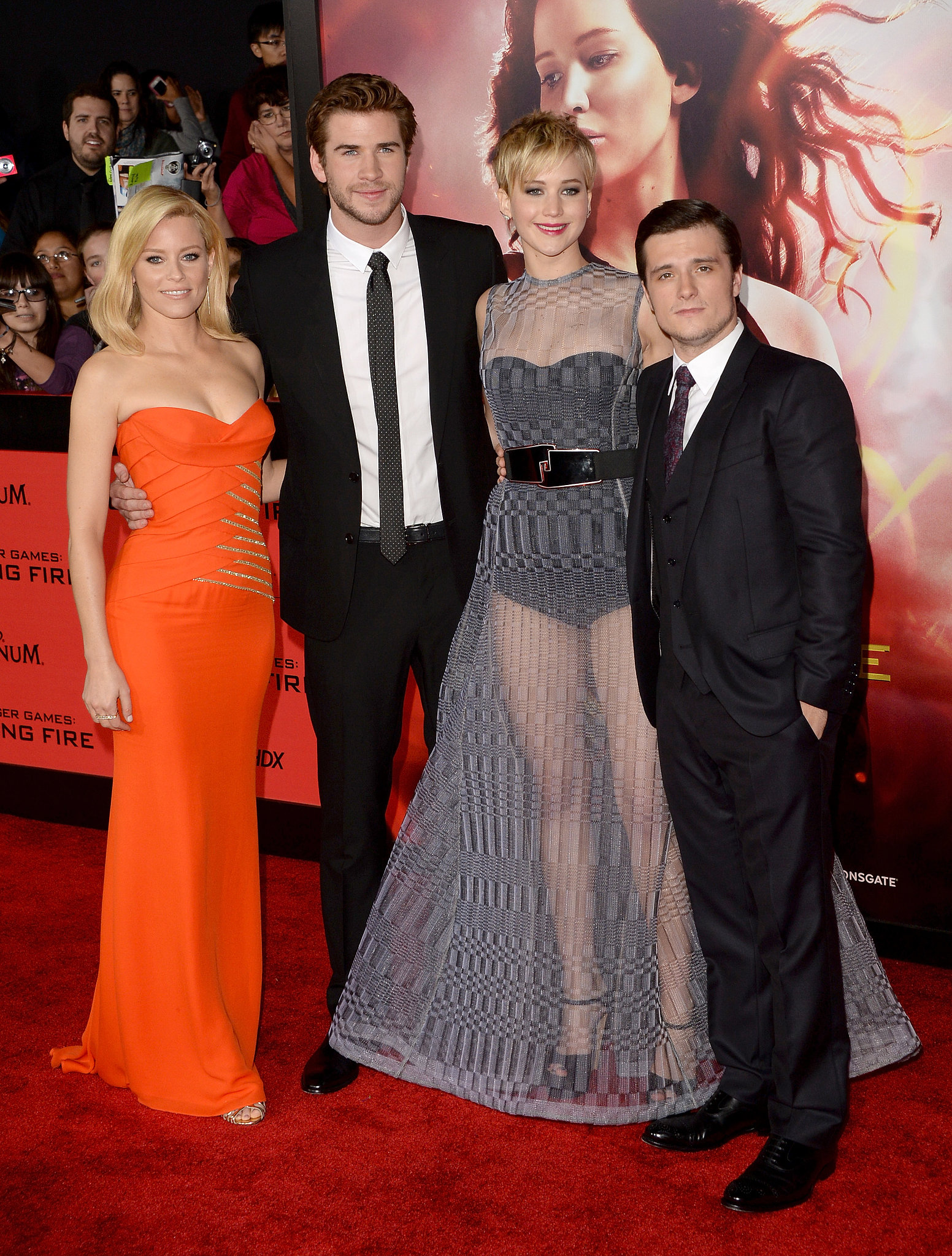 Elizabeth banks liam hemsworth jennifer lawrence and josh