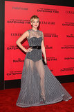 Jennifer Lawrence struck a pose on the red carpet.