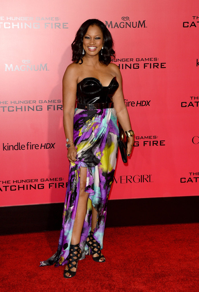 Garcelle Beauvais went floral for the Catching Fire premiere.