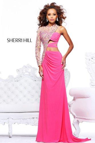 2013 Sherri Hill 21002 Coral Nude Homecoming Dresses