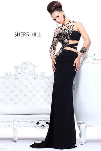 2013 Sherri Hill 21002 Black Nude Homecoming Dresses