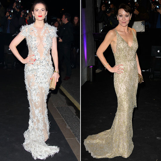 Hayley Atwell and Helen McCrory Bring On the Theatrics in Metallic Gowns
