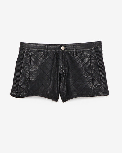 La Marque Exclusive Quilted Leather Short: Black