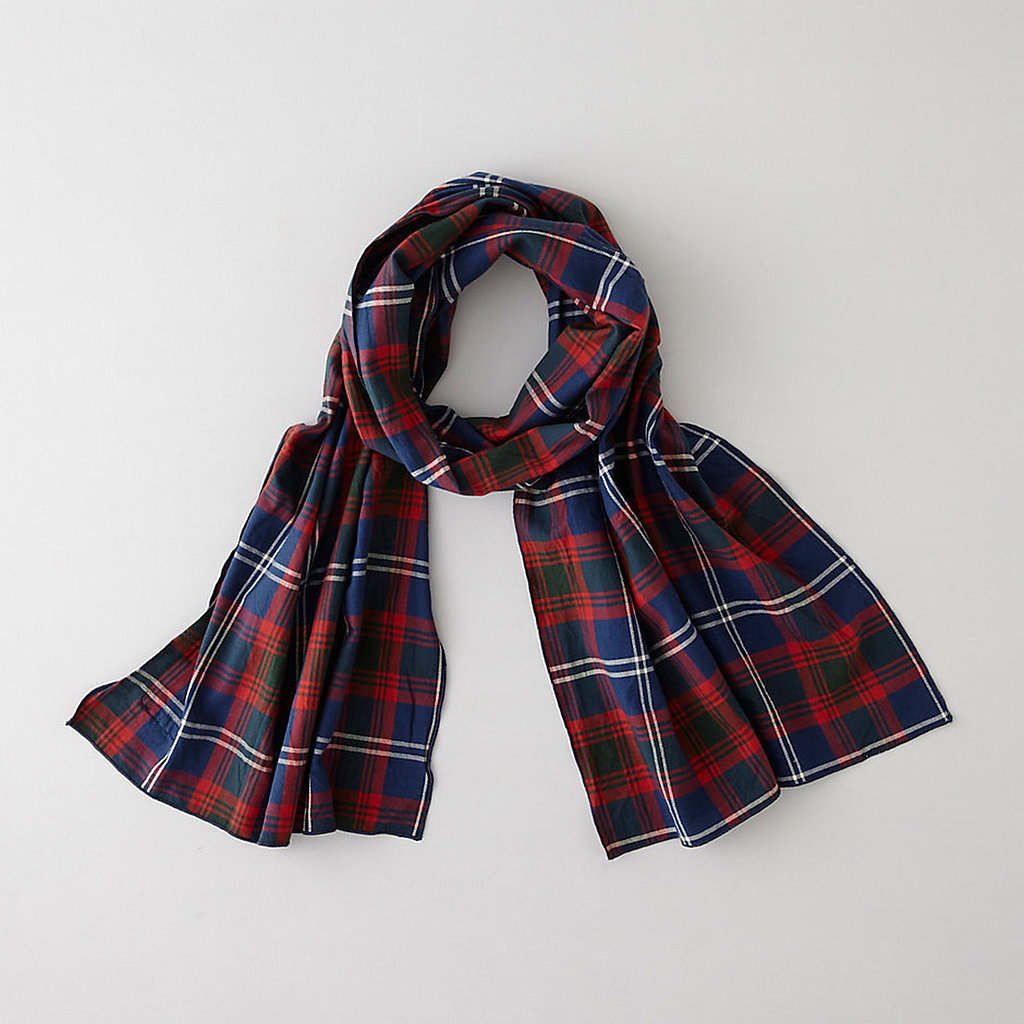 A warm scarf by Engineered Garments ($84) is the perfect way to add a tartan touch to a Winter outfit.