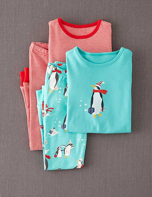 Mini Boden Festive Penguins Long Johns