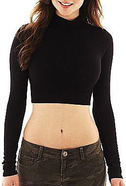Decree® Cropped Turtleneck Shirt