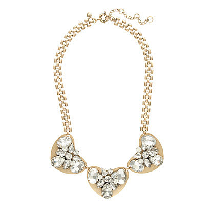 J.Crew Crystal and Metal Necklace