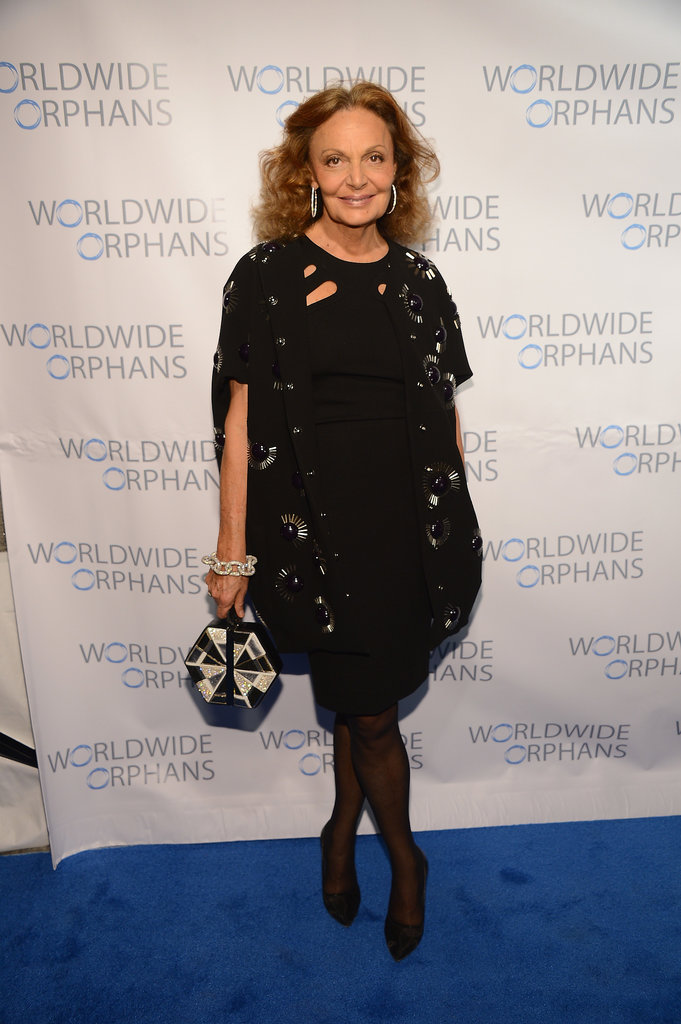 Diane von Furstenberg at the Worldwide Orphans Gala.
