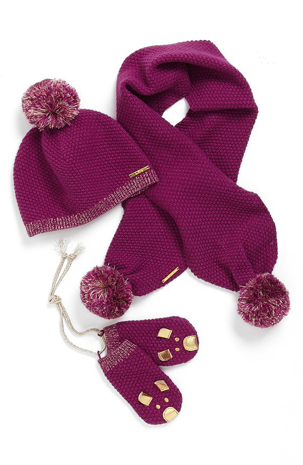 Little Marc Jacobs Hat, Scarf, and Mittens Set