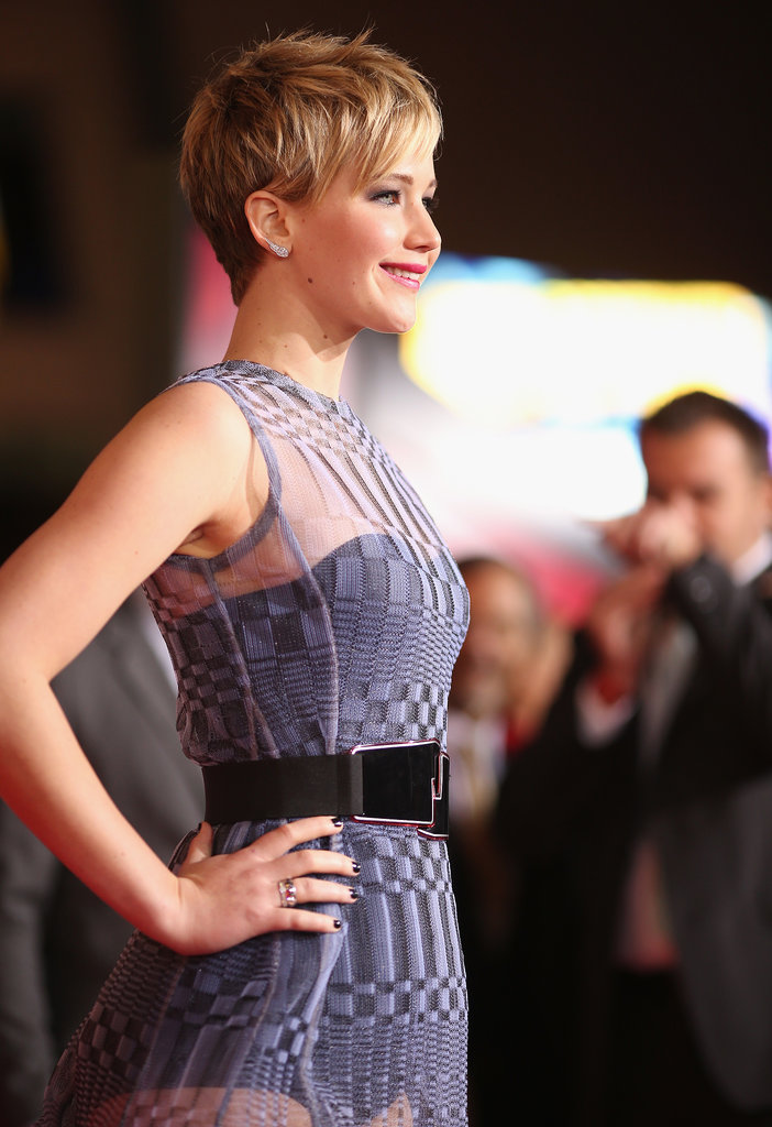 Jennifer Lawrence Turns Heads in a Sheer Dress