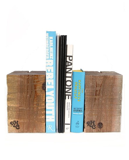 No regifting here. This wood block bookend ($40) is an earthy accent that lends a designer touch.