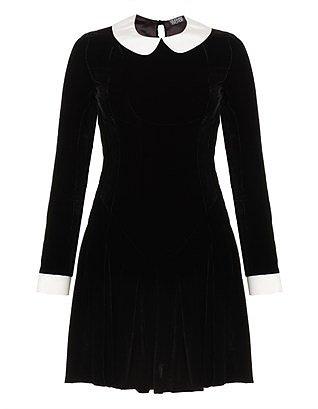 Black Velvet Ophelia Dress