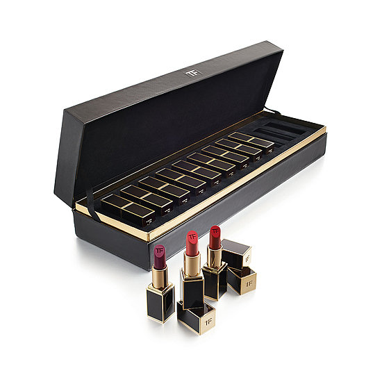 Twelve shades of sex appeal are nestled into this chic box of Tom Ford Lipsticks ($588). From neutrals to brights, there's something here for every woman and every occasion.