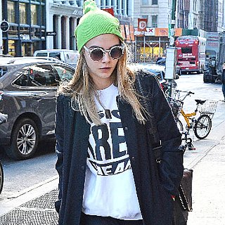 Cara Delevingne Sweatpants and Beanie