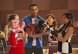 Kitty (Becca Tobin), Jake (Jacob Artist), and Tina (Jenna Ushkowitz) pose with their muppet selves.