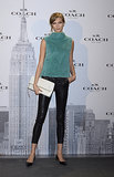 Karlie Kloss at the Madrid Coach boutique opening.