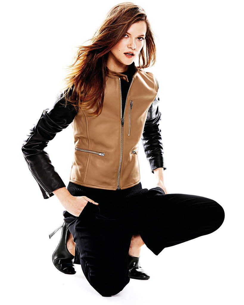 Alexander Wang Zip-Up Leather Moto Jacket ($1,650)