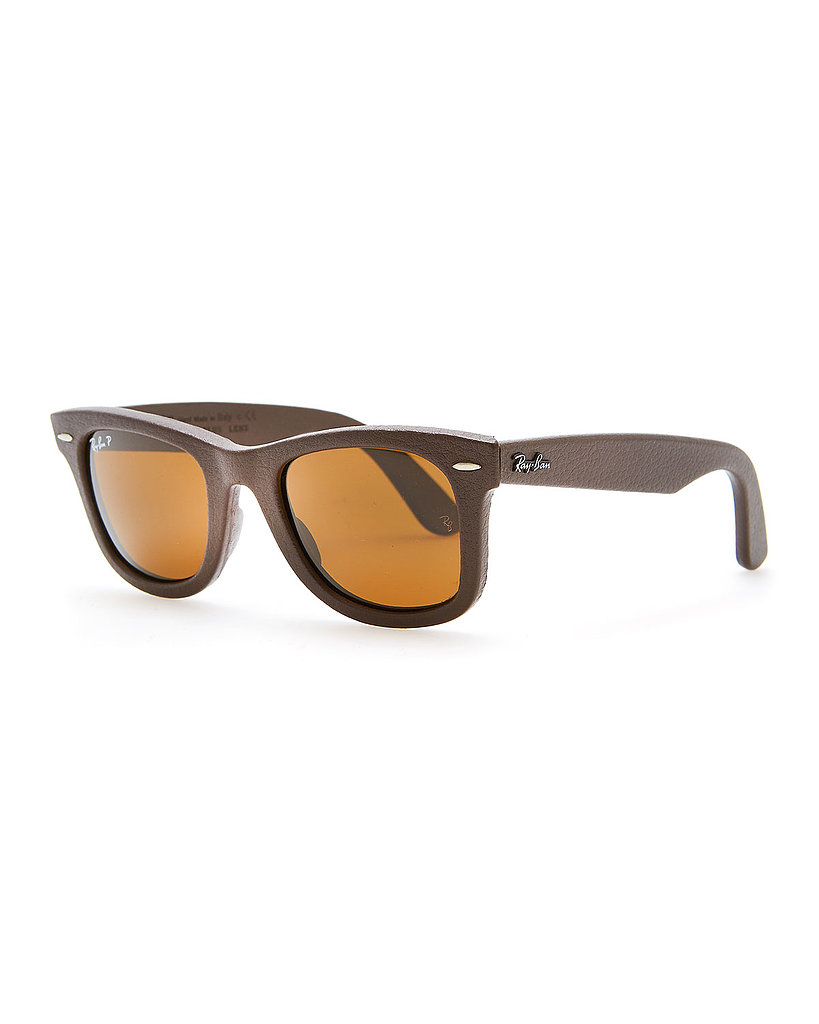 Ray-Ban Leather-Wrapped Wayfarer Sunglasses ($300)
